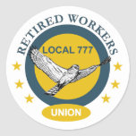 Retired Workers Union Classic Round Sticker