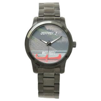 Retired! Wrist Watch Kayaks Mtns, Oversized Unisex