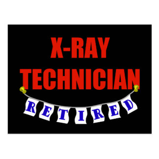 Retired X-Ray Technician Postcard
