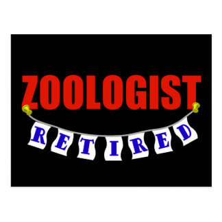 Retired Zoologist Postcard