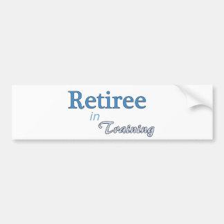 Retiree in Training Bumper Sticker