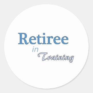Retiree in Training Classic Round Sticker