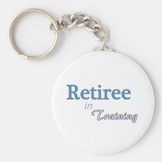 Retiree in Training Keychain