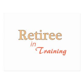 Retiree in Training Postcard