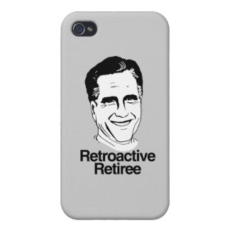 RETIREE png RETROACTIVO iPhone 4 Fundas
