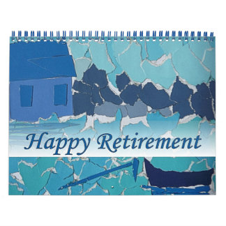 Retirement 2016 Calendar Art Blue BoatTwo Page
