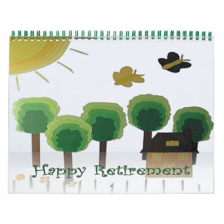 Retirement 2016 Calendar Green Landscape Naive Art
