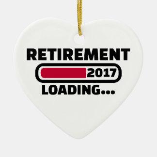 Retirement 2017 ceramic ornament