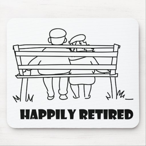 Retirement accessoried mouse pad
