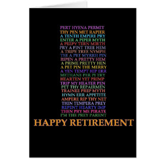 Retirement Anagram card