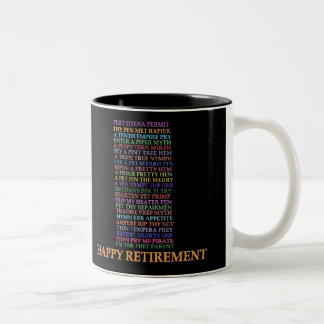 Retirement Anagram mug