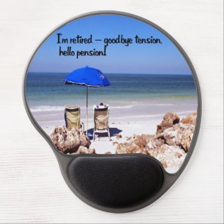 Retirement and a pension gel mouse pad