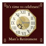 """Retirement Announcement 5.25"""" Square Invitation Card"""