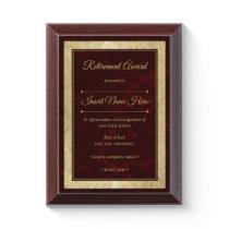 Retirement Award Plaque