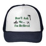 RETIREMENT Baseball Cap Hats
