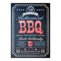 Retirement BBQ Invitations | Chalkboard