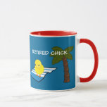 Retirement: Beach Fun--retired Chick Mug at Zazzle