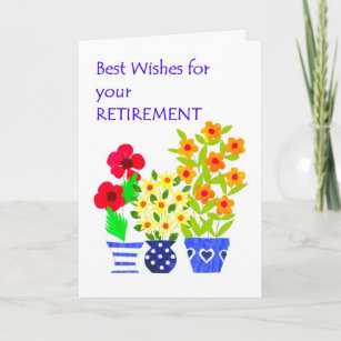 Best wishes on retirement cards zazzle retirement best wishes card flower power m4hsunfo