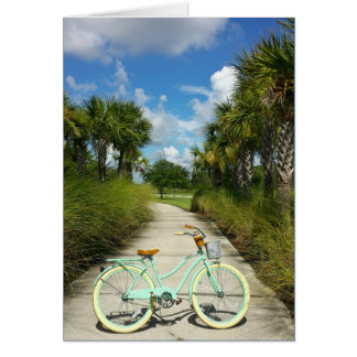 Retirement - Bicycle & Palm Trees Solivita Florida Card
