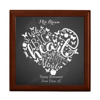 Retirement, big heart Thank you Teacher Gift Gift Box