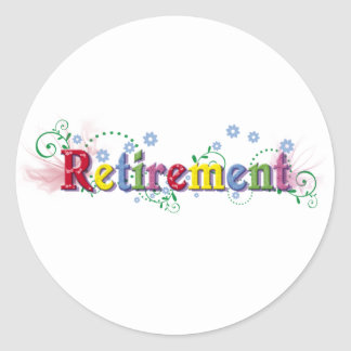 Retirement Bliss Classic Round Sticker