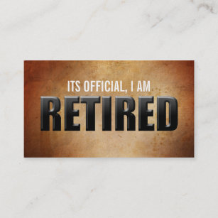 Retired business cards templates zazzle retirement business cards colourmoves