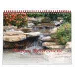 Retirement Calendar 2016 Garden Waterfall Cascade