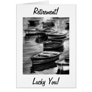 RETIREMENT CARD FILLED WITH GOOD WISHES/ROW BOATS
