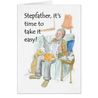 Retirement Card for a Stepfather