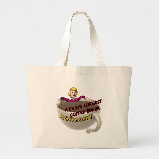 Retirement Coffee Break Canvas Bag