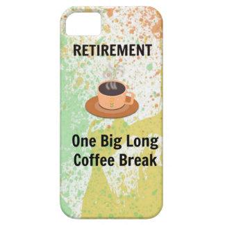 Retirement Coffee Break on Splatter Background iPhone SE/5/5s Case