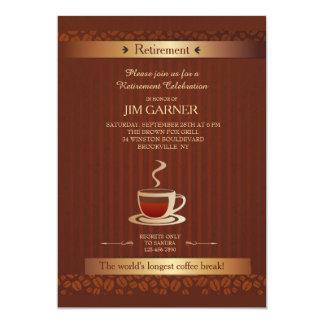 Retirement Coffee Cup Invitation