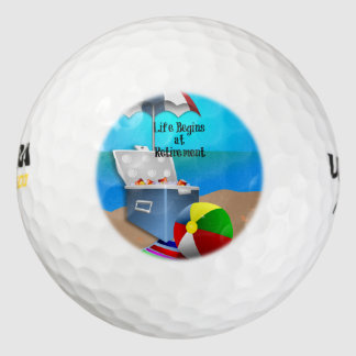 Retirement - Colorful Beach Theme Pack Of Golf Balls