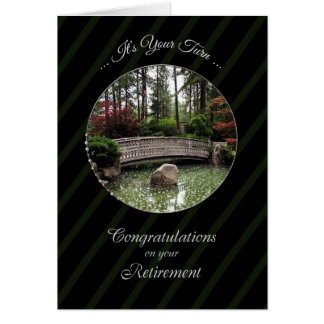 Retirement Congratulations Card / Bridge