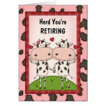 Retirement Congratulations - Cows Card