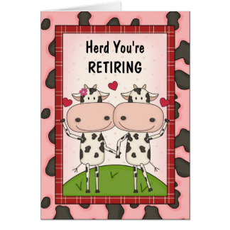 Retirement Congratulations - Cows Card