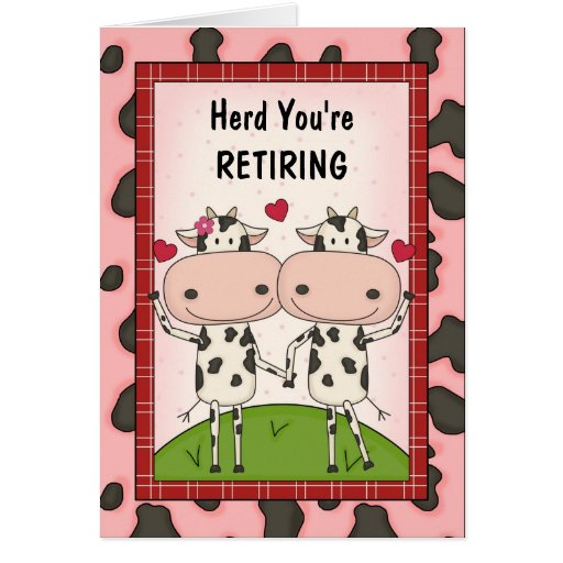 Retirement Congratulations - Cows Greeting Cards