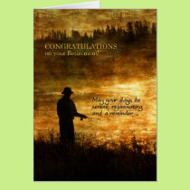 Retirement Congratulations Fisherman Fishing Card