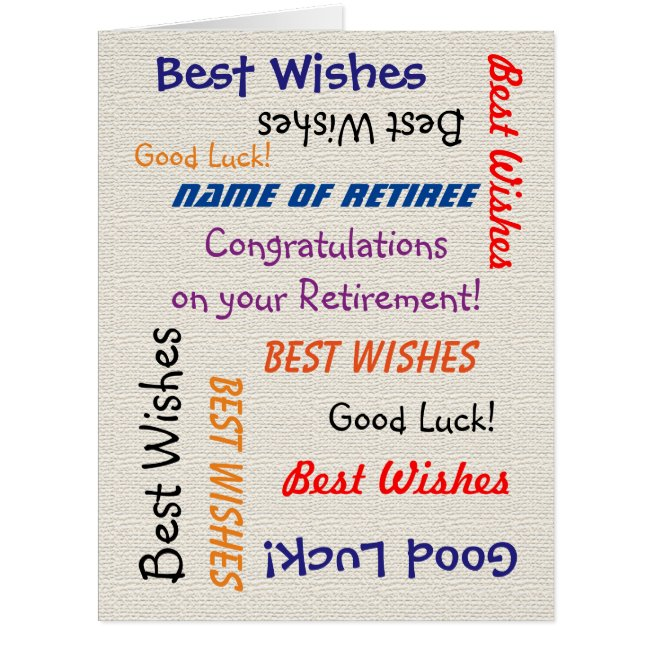 Retirement Congratulations from All JUMBO Burlap