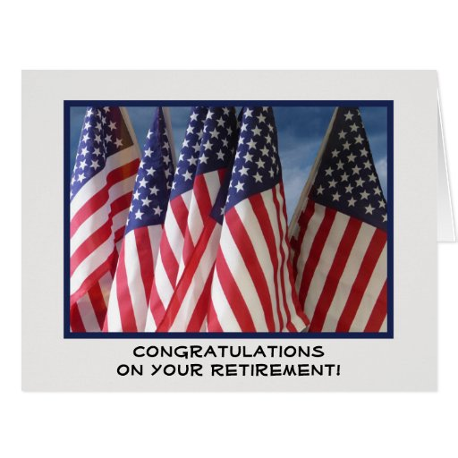 Retirement congratulations from all of us jumbo card zazzle