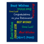Retirement Congratulations from All of Us, JUMBO Large Greeting Card