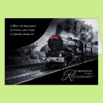 Retirement Congratulations Railroad Train Theme Card