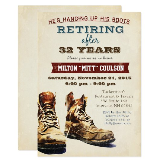 Retirement Construction Military Invitation  Zazzle