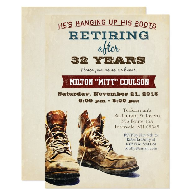 Retirement Construction Military Invitation | Zazzle.com