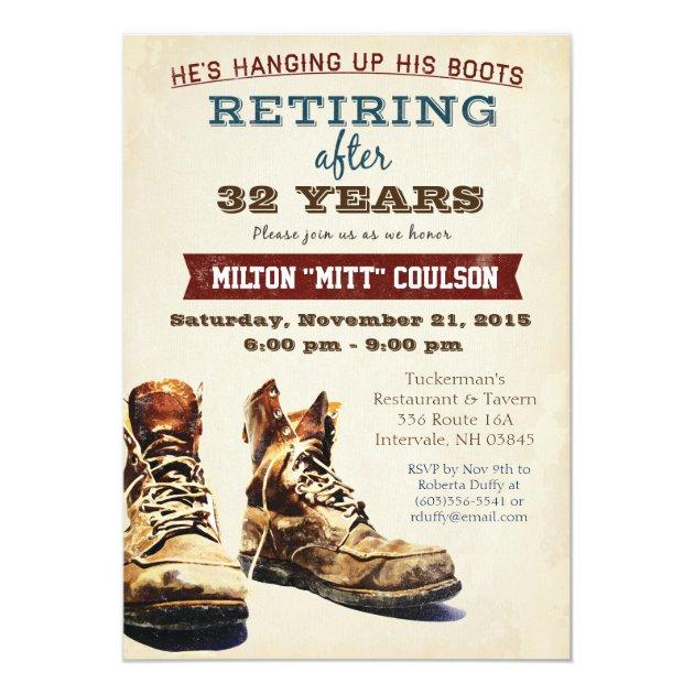 Retirement Construction Military Invitation