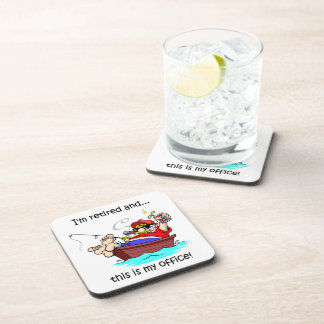 retirement drink coaster