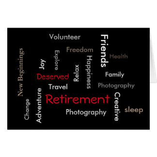 Retirement-Customize words on front of Card