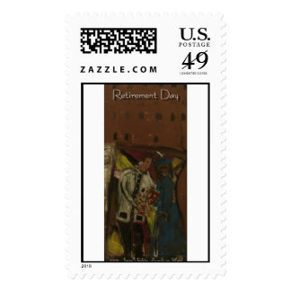 retirement day  stamps