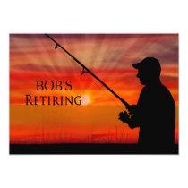 RETIREMENT DINNER INVITATION - FISHING SUNSET -