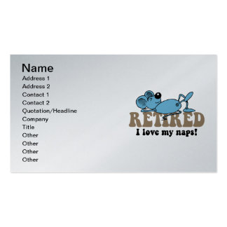 retirement Double-Sided standard business cards (Pack of 100)